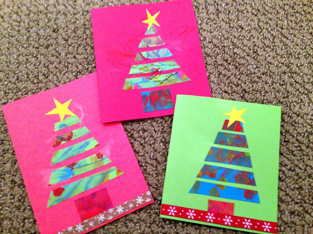 Making Homemade Holiday Cards that Kids Can Easily Make
