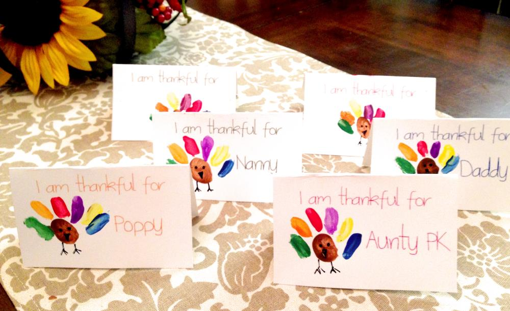Thanksgiving Place Cards Kids Can Make
