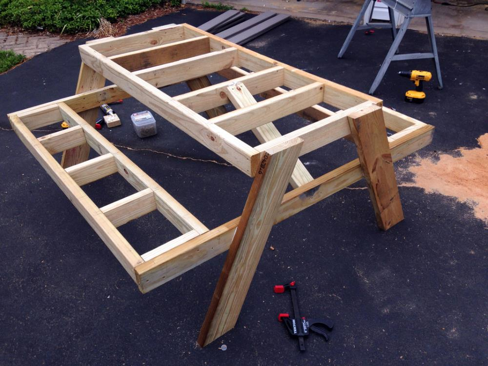 How To Build A Diy Picnic Table In Just One Day