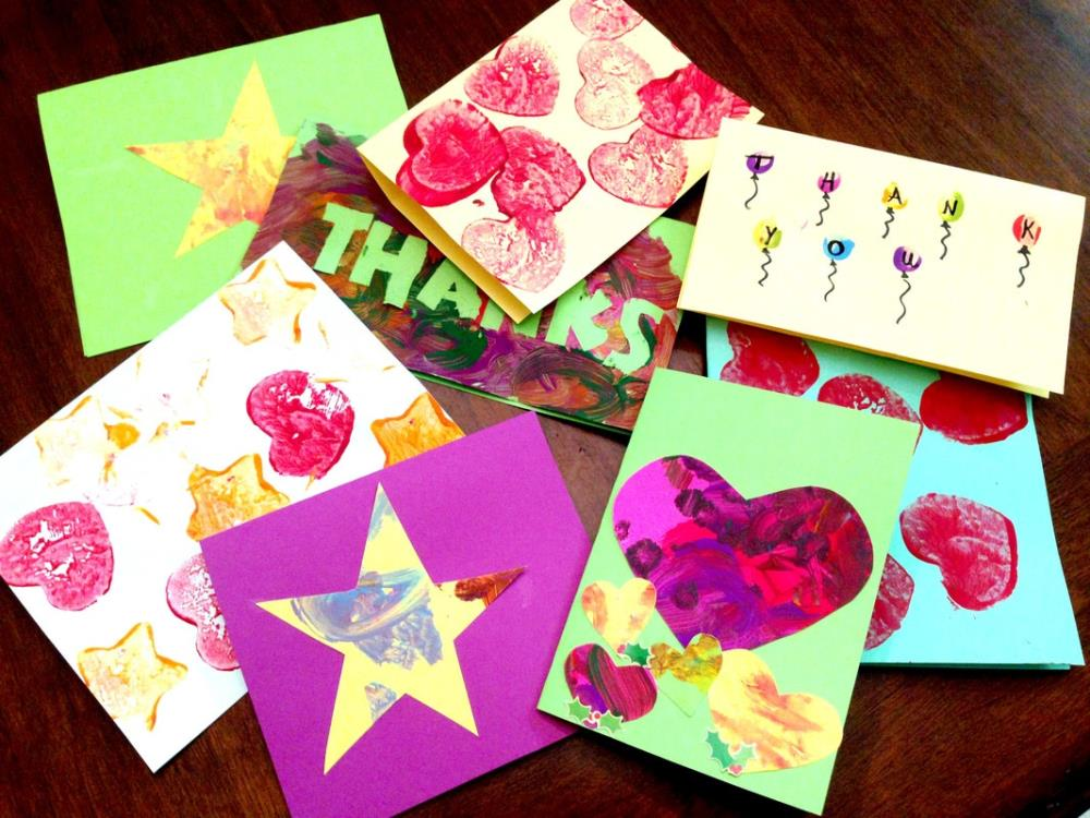 Four Simple Cards Kids Can Make | Homemade Thank You Cards from Toddlers  and Kids
