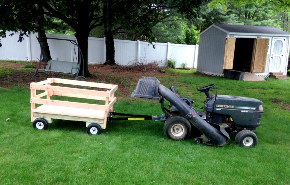 How to Build a Utility Trailer that Stands Alone or Attaches to Mowers as a Lawn Mower Trailer