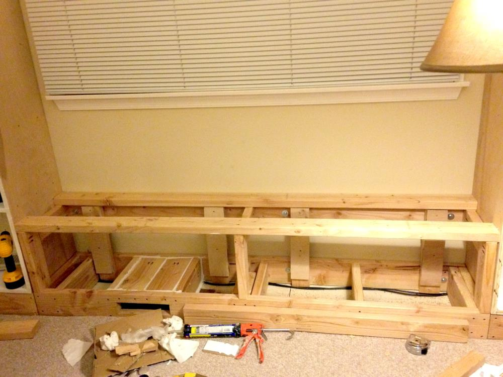 Constructing Cabinet Housing for the DIY Built-In Bookshelves