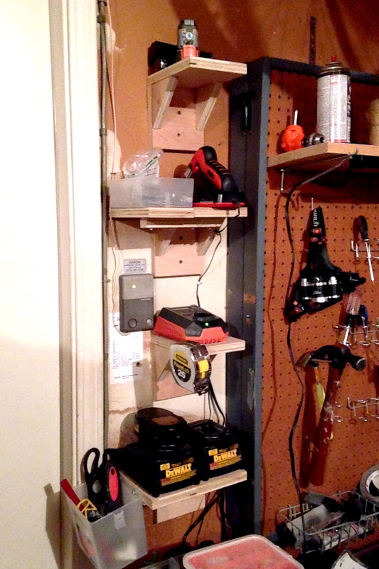 Creative Garage DIYs to Increase Your Storage - Battery Charging Station