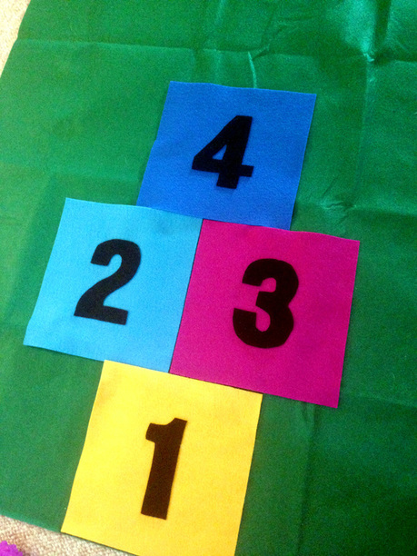 How to Make a Hopscotch Mat from Felt (Without Sewing)