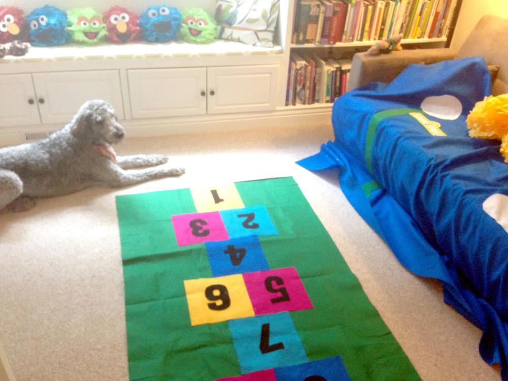How to Make a Hopscotch Mat from Felt