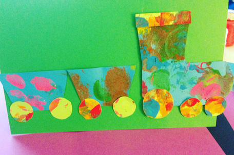 Card making ideas for kids - paint and then cut into shapes for birthday cards