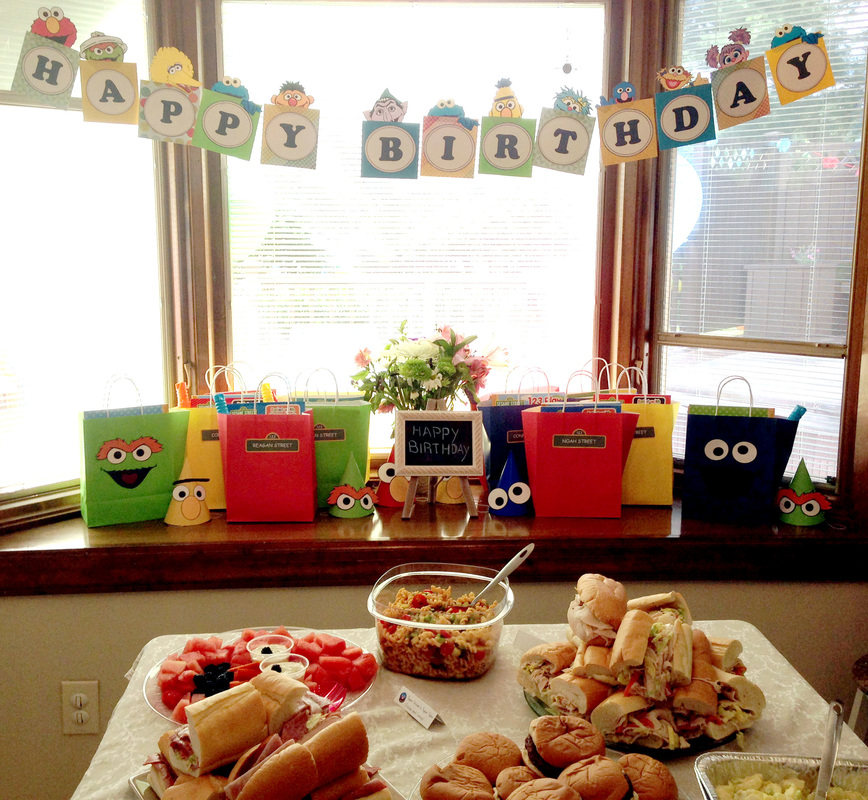 Sesame Birthday Banner - Amazing Sesame Party