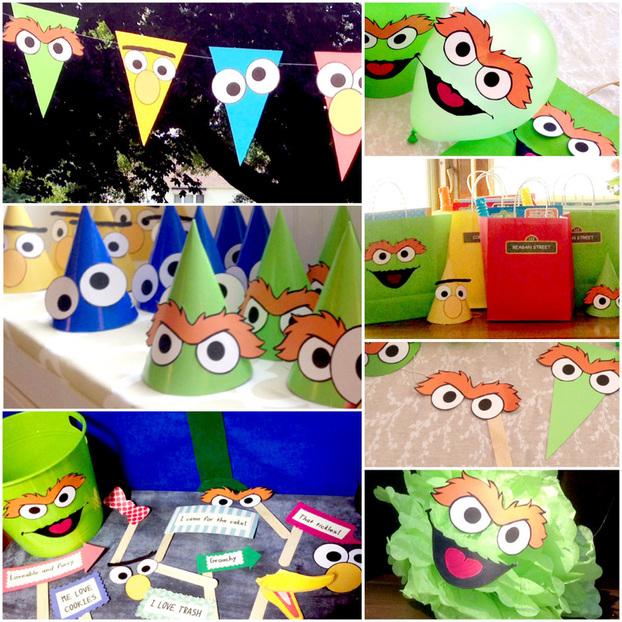 DIY Sesame Street Decorations