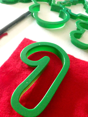 Using Cookie Cutters to Trace Homemade Advent Calendar Ornaments