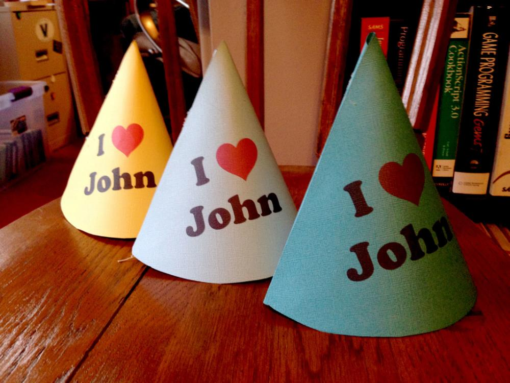 Throwing an Amazing Beatles Party - DIY Party Hats