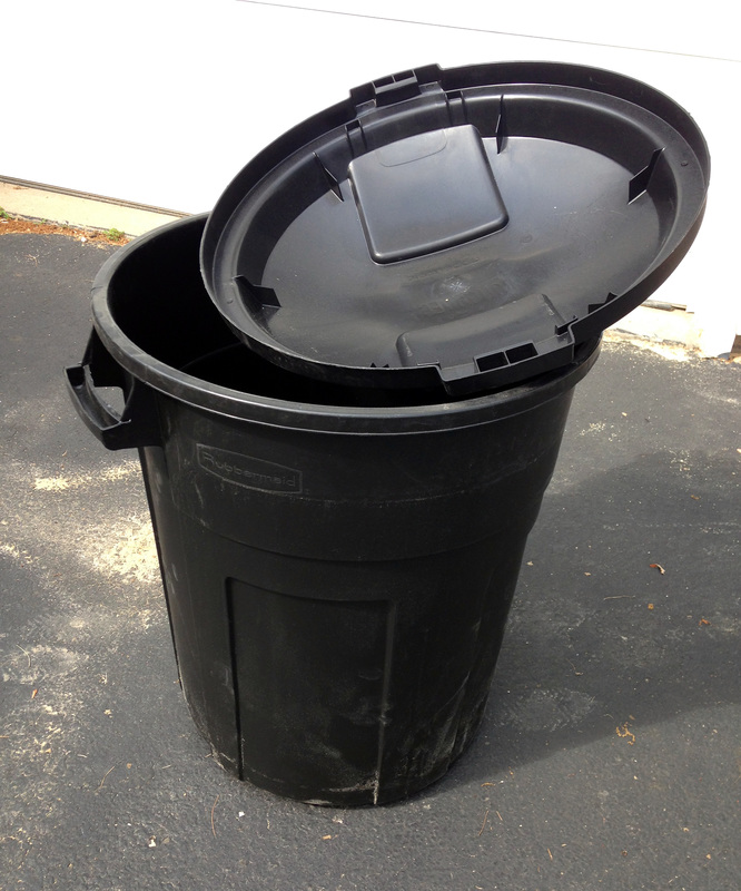 Use a trash can to make a diy standalone rainwater collector, without gutters