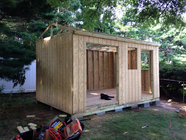 Building roof tresses for a homemade shed