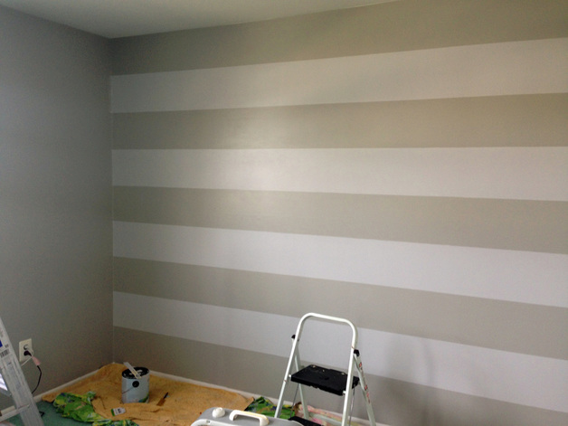 How to Paint Stripes - Nursery Makeover