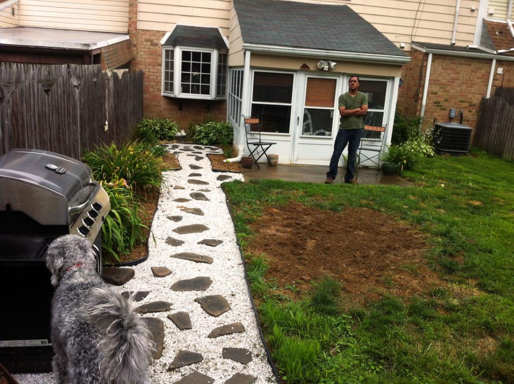 How to Make a Stone Pathway to your Detached Deck