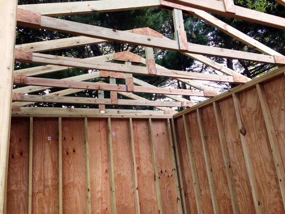 How to build roof tresses for a DIY shed