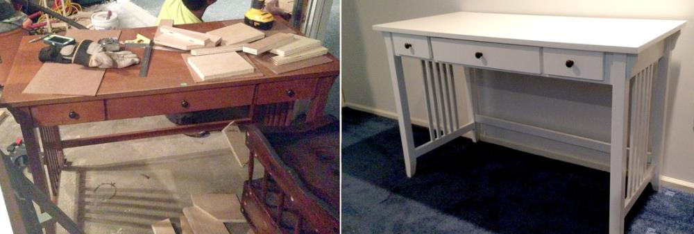 How to Refinish an Old Wooden Desk into a Modern Piece