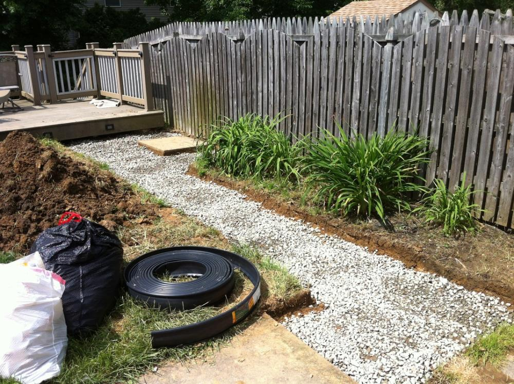 How to Make a Stone Pathway in Less than Two Weekends