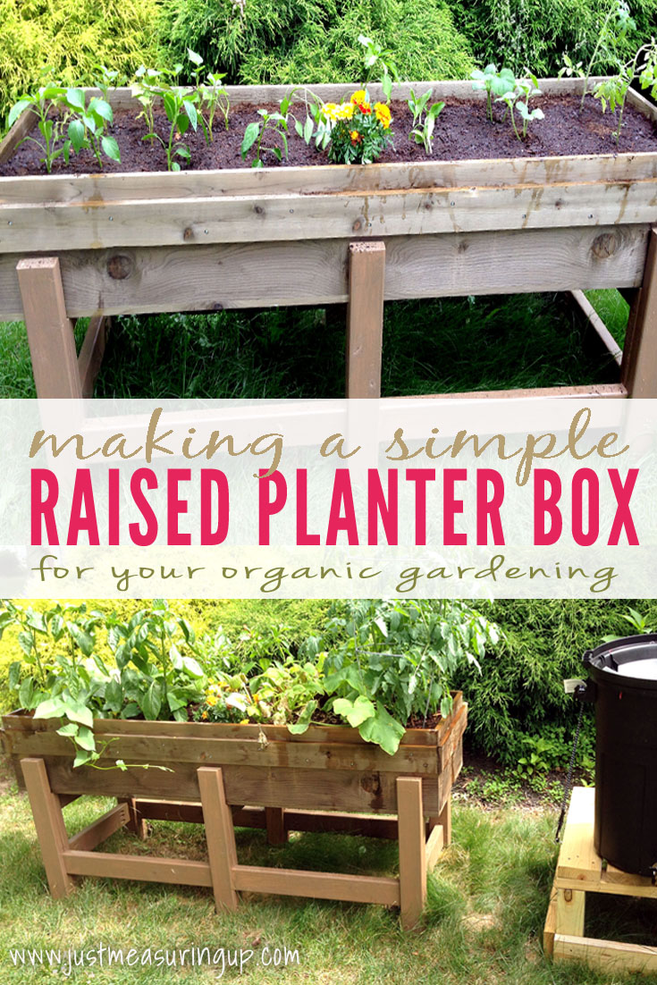 Elegant How To Make An Easy, Raised Planter Box For Your Garden