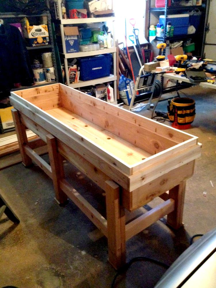 How To Make A Raised Planter Box For The Garden Diy