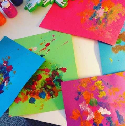 Making Cards With Toddlers Creating Greeting Cards From Toddler Art