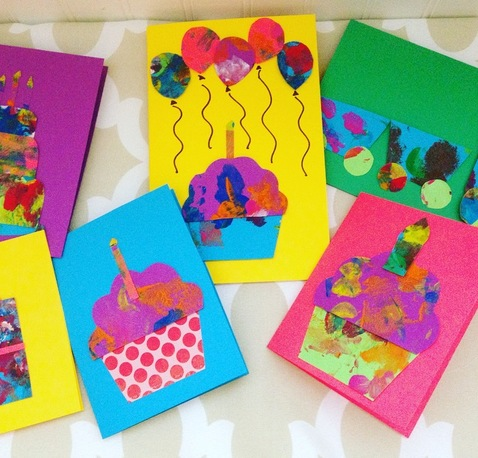 Making Cards with Toddlers - Using Toddler Paintings to Create Gorgeous Greeting Cards