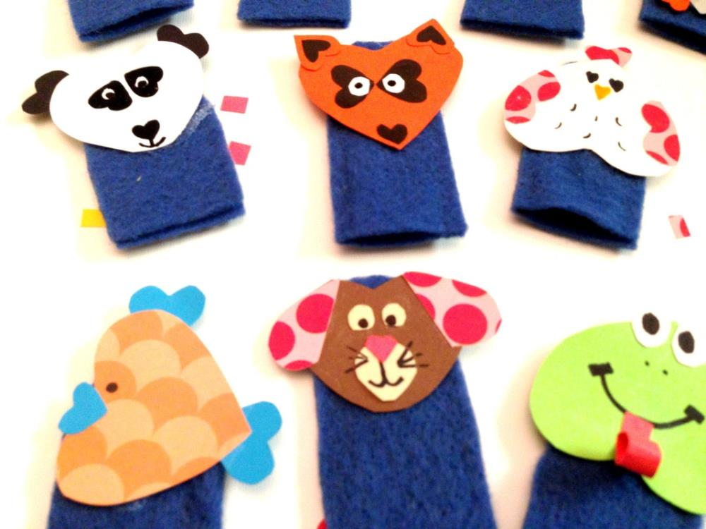 How to Make Animal Finger Puppets Out of Felt