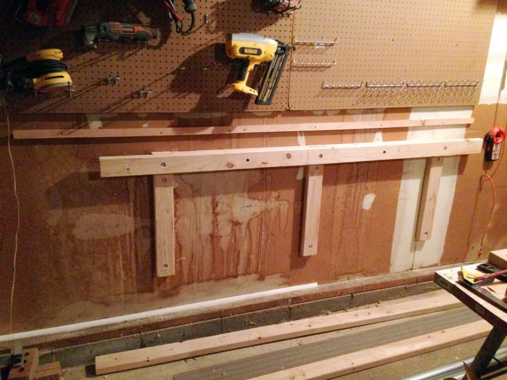 Building Wall Mounts for the DIY Folding Workbench