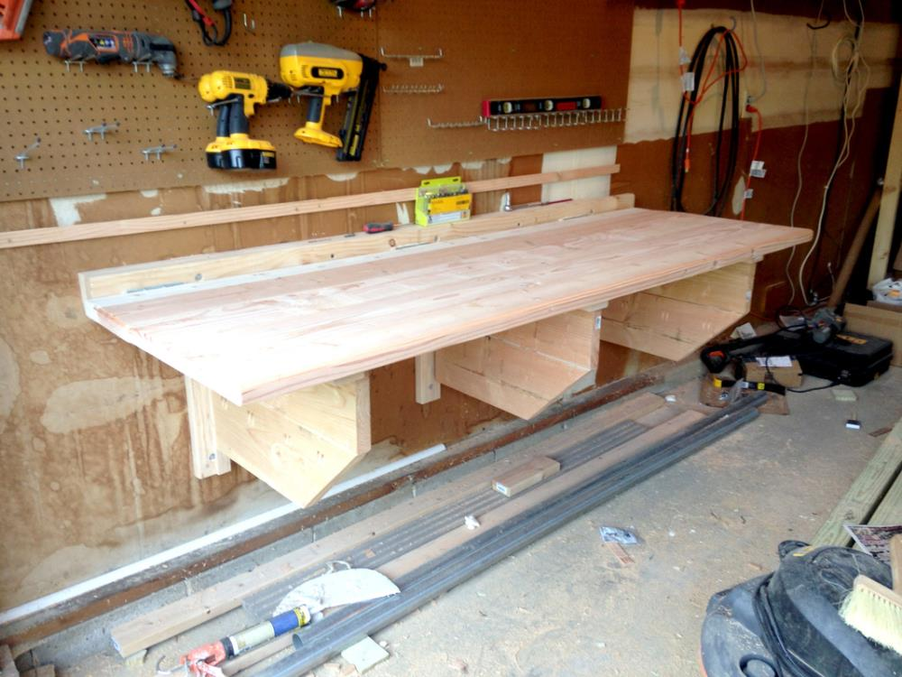 How to Build a DIY Folding Workbench that Mounts to the Wall
