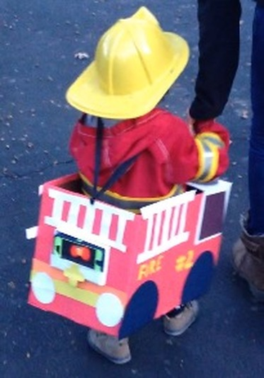 Making a Fire Truck Halloween Costume