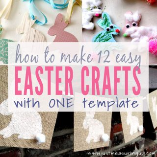 Free Easter Bunny Printable that You Can Use to Make 12 Easter Crafts