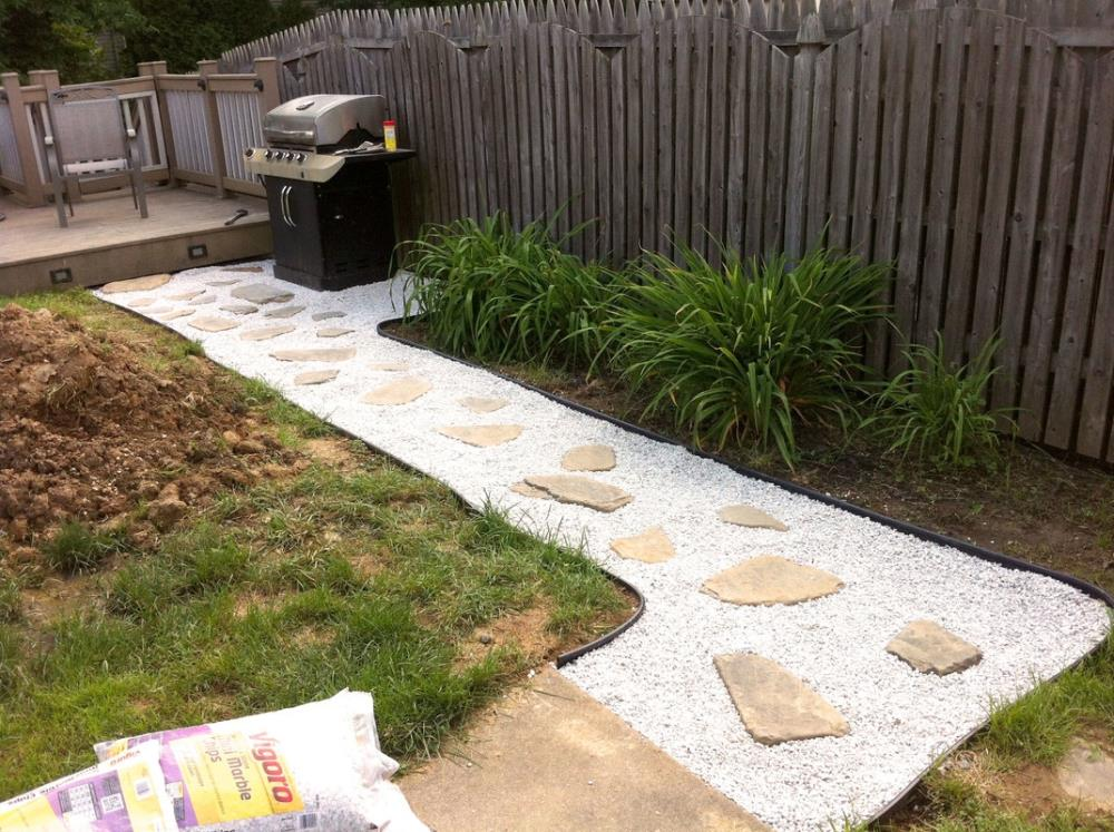 DIY Backyard Projects   Stone Pathway Tutorial