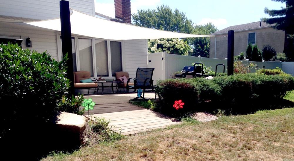 DIY Backyard Projects - Installing a Shade Sail