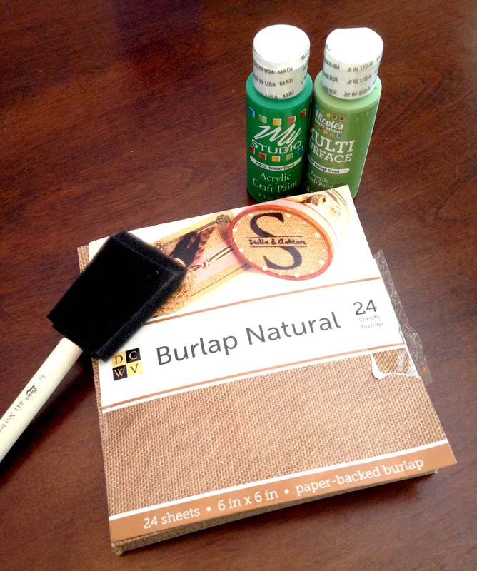 How to Make a Burlap Banner - Easy Tutorial