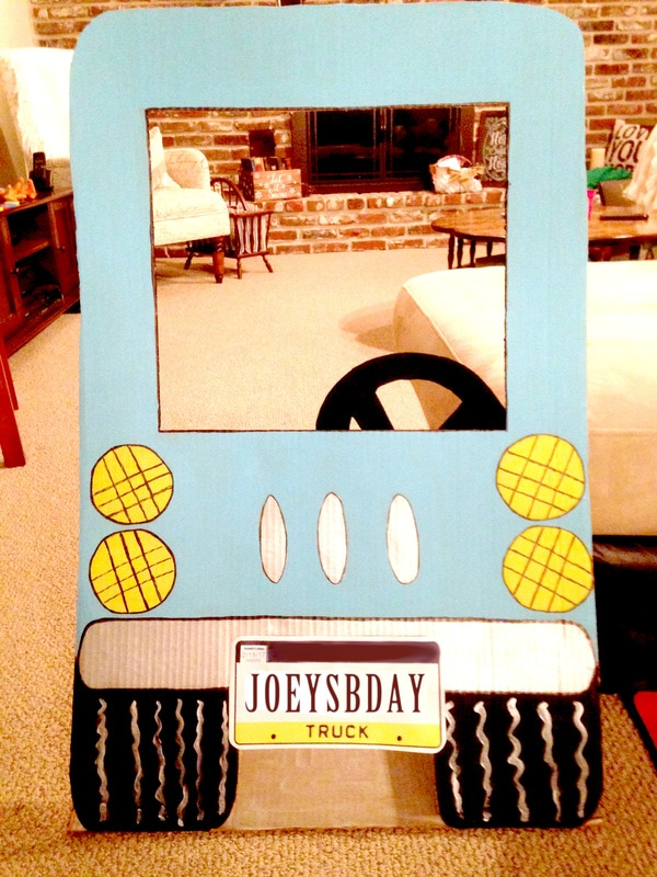 Amazing Truck Party Ideas - Cardboard Truck Cutout for Photo Booths