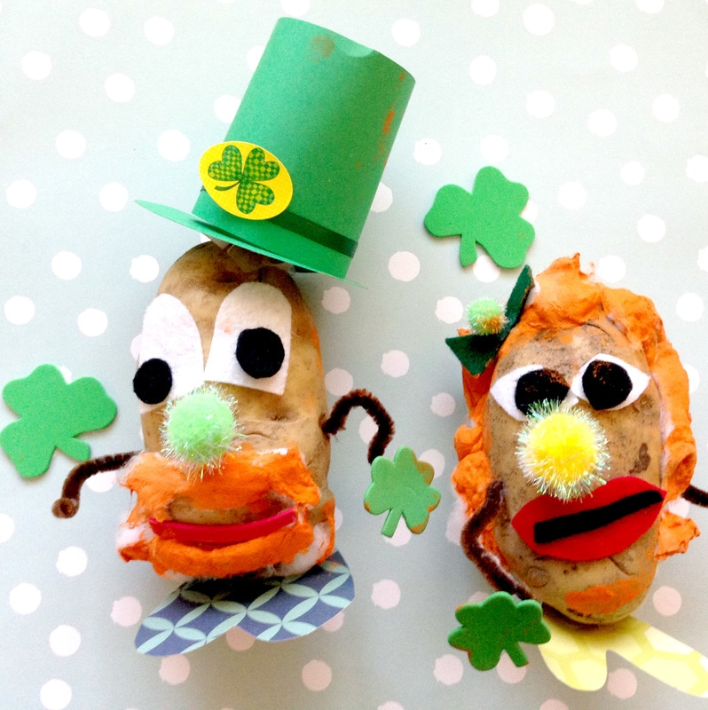 Making a Real Mr. Potato Head Craft for Kids
