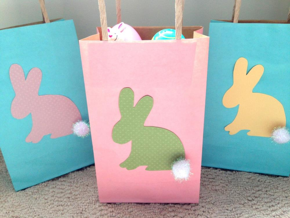 Making Easy Bunny Bags - 12 Simple Easter Crafts with Free Printable