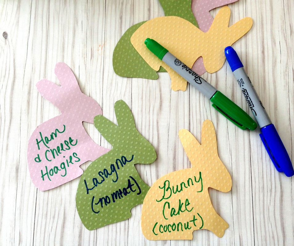 Easter Bunny Food Labels - free printable