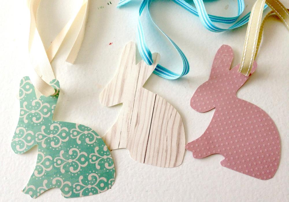 Easter Bunny Tags for baskets or gifts - free printable
