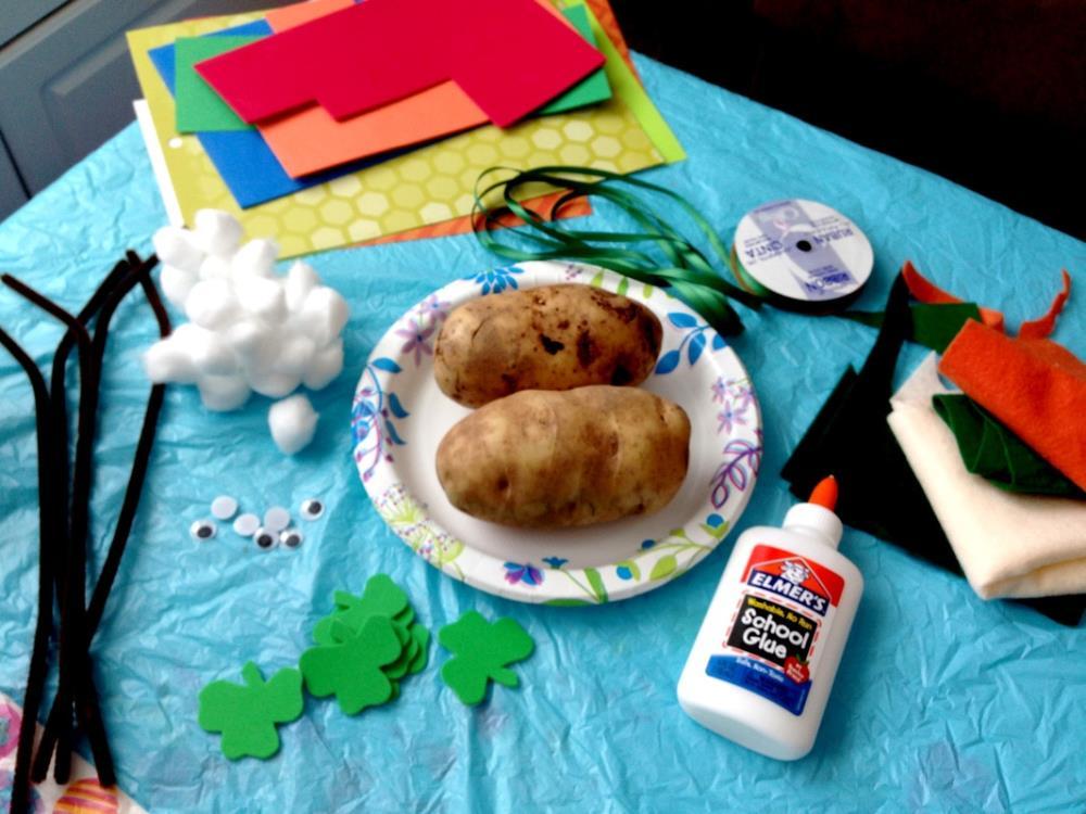 Making a Real Mr. Potato Head Kids Craft