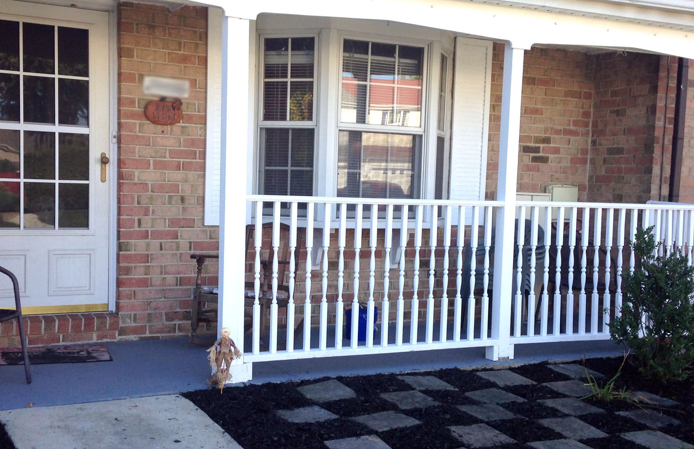 Increase your curb appeal by installing porch railings - simple tutorial