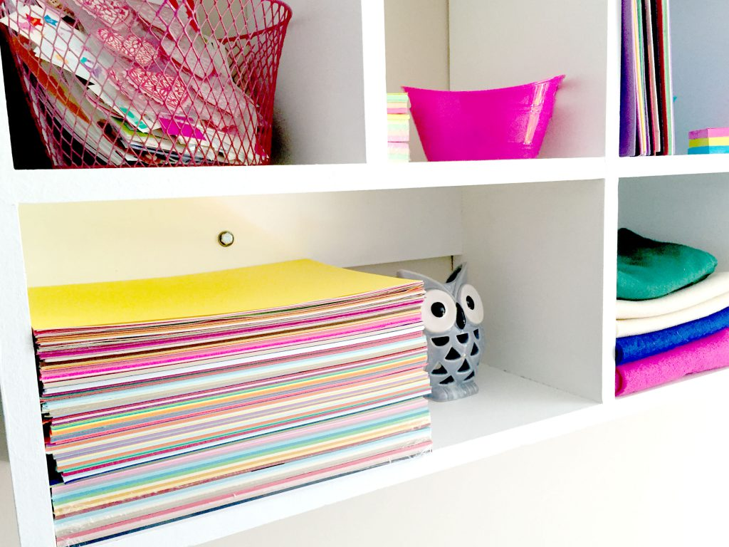 Organizing Craft Room with Cubby Shelves, Floating Shelves and Pegboard!
