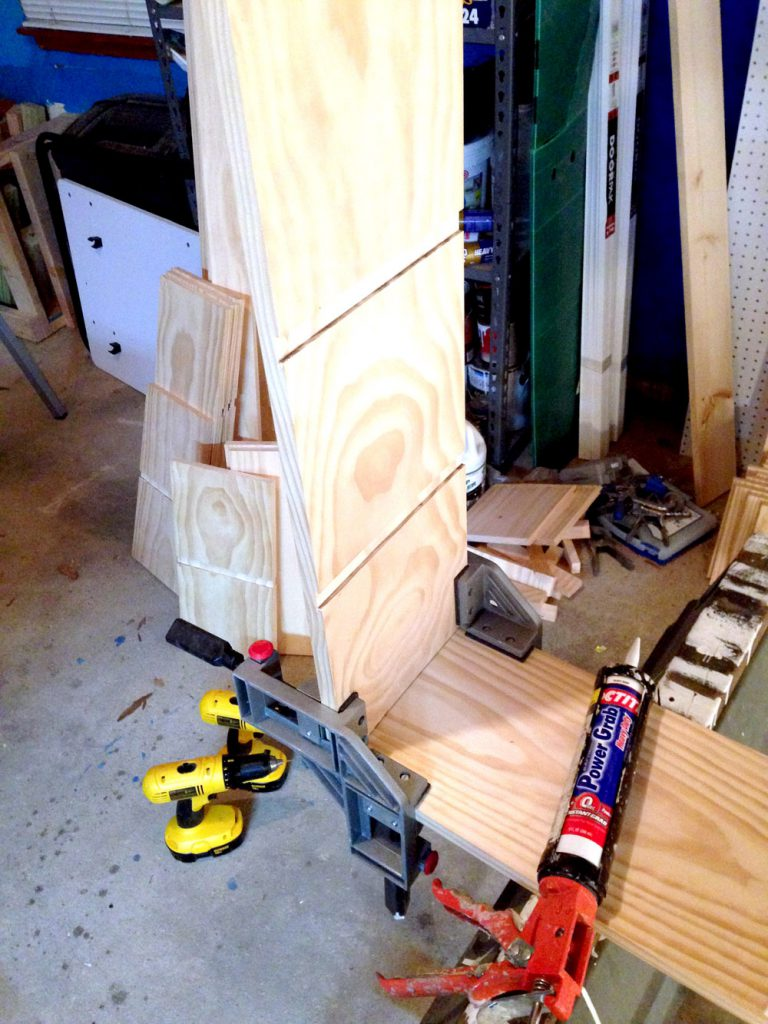 Building Cubby Shelves for Craft Room Storage