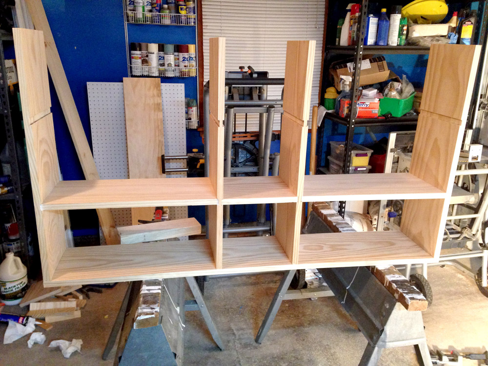 Building DIY Storage Cubby Shelves for Wall