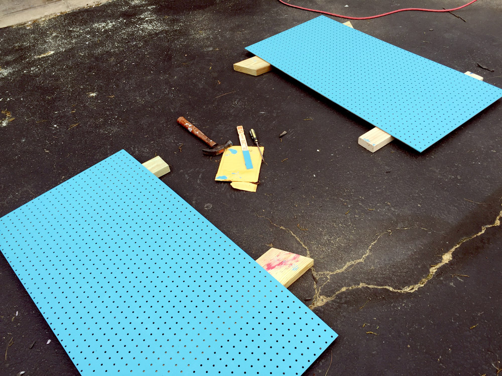 Spray Painting Pegboard for a Craft Room Makeover - free printables