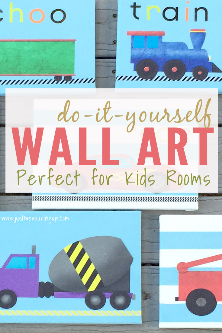 DIY Wall Art for Kids Rooms - Easy Tutorial Using Stickers & Canvas