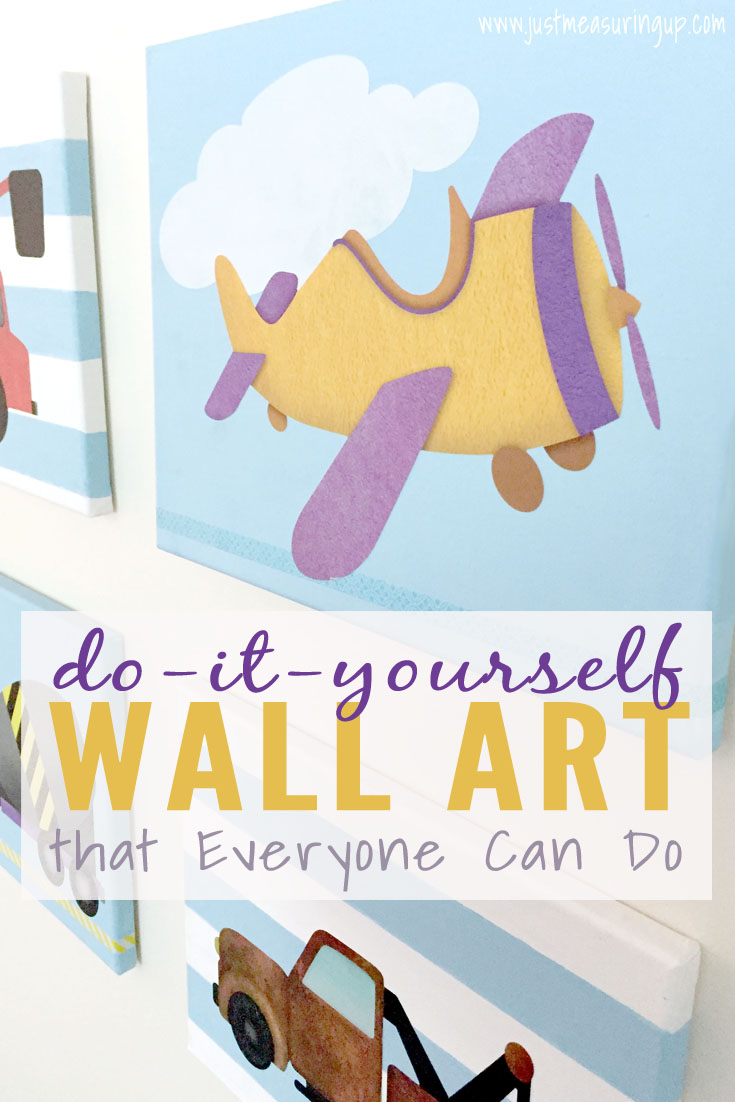DIY Wall Art that Everyone Can Do! Perfect for kids rooms