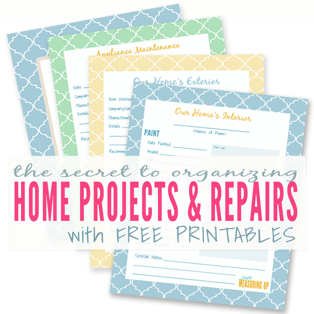 Free Printables to Organize Your Home Improvement Projects