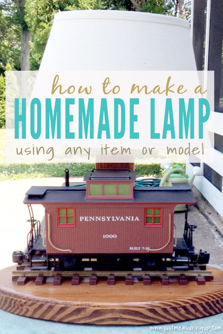 How to Make a Homemade Lamp using Any Item!