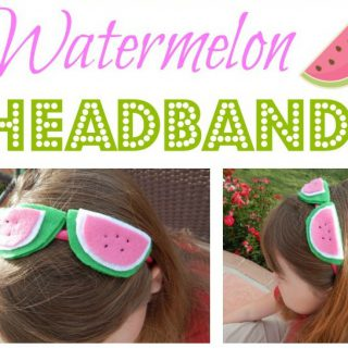 How to Make a DIY Watermelon Headband