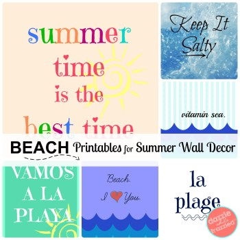 Summer Beach Printables